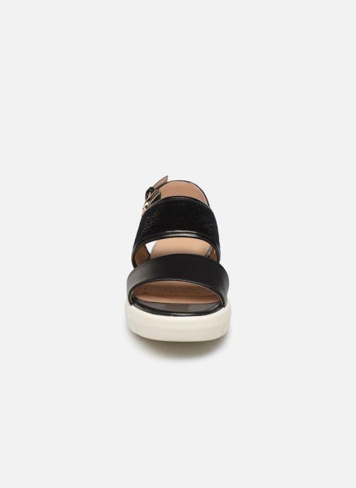 Sandales et nu-pieds Geox D WIMBLEY SAND A D92DPB Noir vue portées chaussures