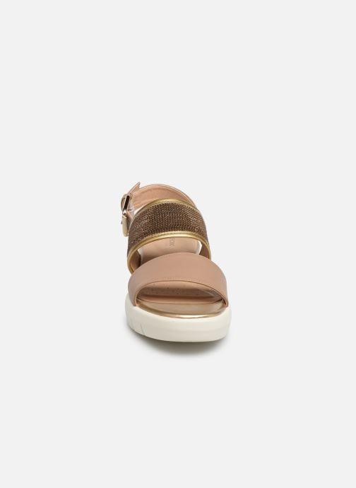 Sandales et nu-pieds Geox D WIMBLEY SAND A D92DPB Marron vue portées chaussures