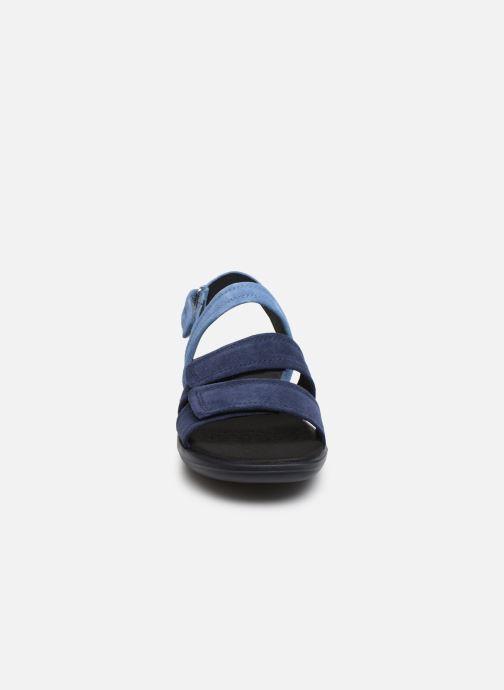 Sandales et nu-pieds Geox D JEARL SAND D D92DR Bleu vue portées chaussures