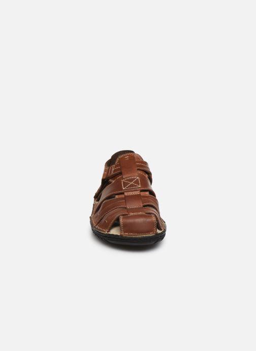 Sandalen Geox U RUFUS A U72V4A braun schuhe getragen