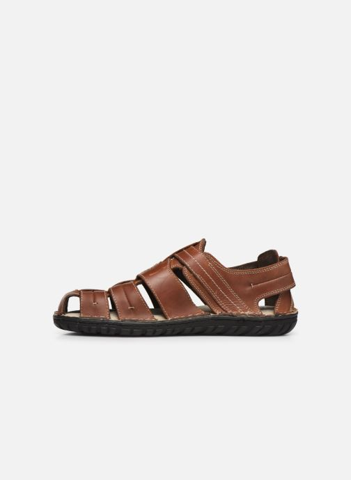 Sandals Geox U RUFUS A U72V4A Brown front view
