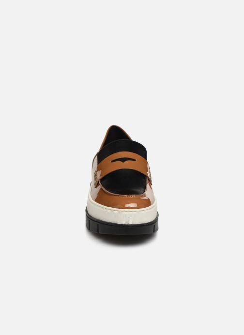 Mocassins Geox D ROOSE B D92BN Marron vue portées chaussures