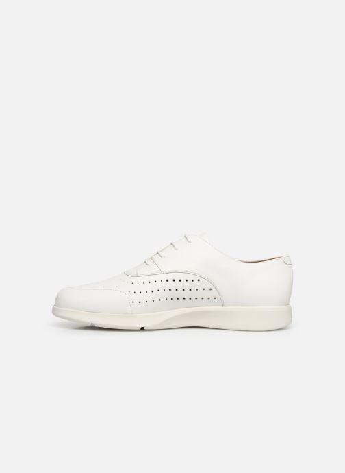 Zapatos con cordones Geox D ARJOLA C D92DHC Blanco vista de frente