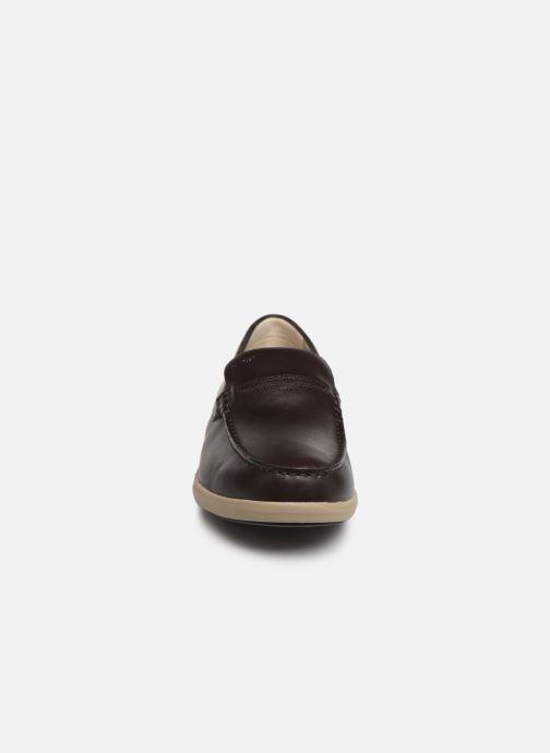 Mocassins Geox U YOOKING A U924NA Marron vue portées chaussures