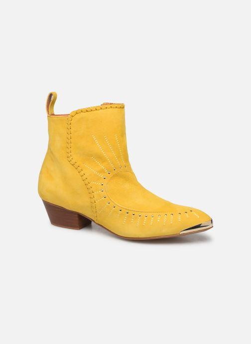 Bottines et boots Made by SARENZA Made By Sarenza x Daphné Burki Boots Jaune vue derrière