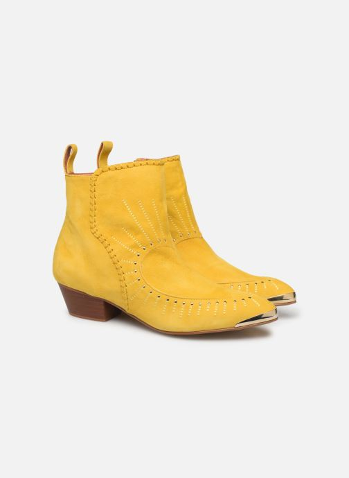 Bottines et boots Made by SARENZA Made By Sarenza x Daphné Burki Boots Jaune vue gauche