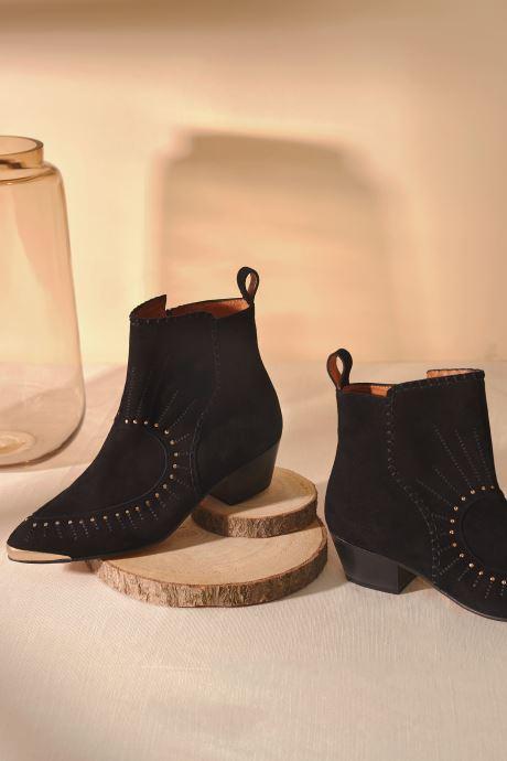 Bottines et boots Made by SARENZA Made By Sarenza x Daphné Burki Boots Noir vue portées chaussures