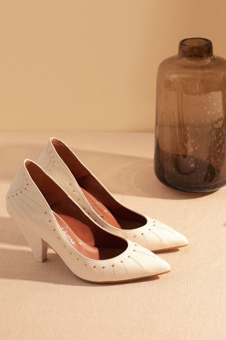 Escarpins Made by SARENZA Made By Sarenza x Daphné Burki Escarpins Blanc vue portées chaussures
