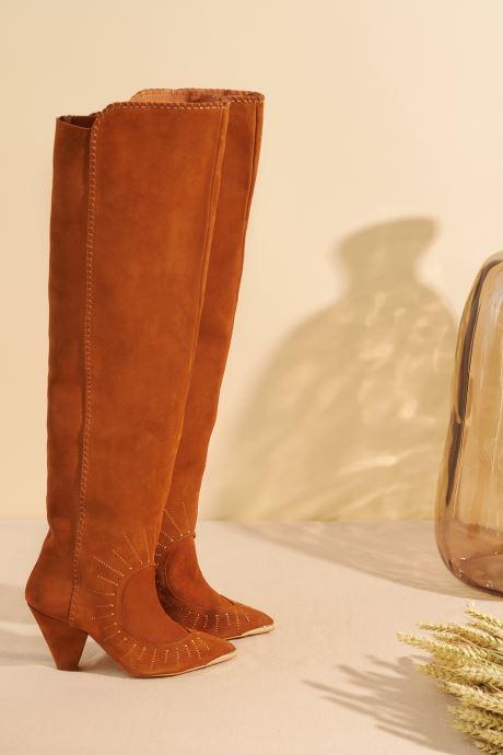 Bottes Made by SARENZA Made By Sarenza x Daphné Burki Bottes Marron vue portées chaussures
