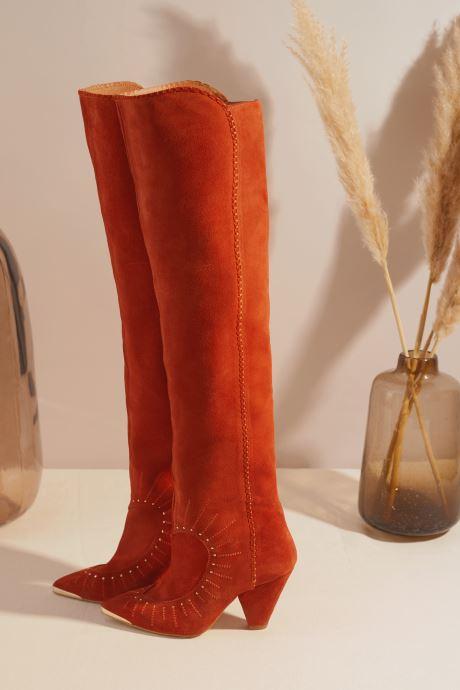 Bottes Made by SARENZA Made By Sarenza x Daphné Burki Bottes Orange vue portées chaussures