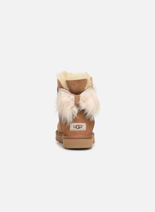 Botines  UGG W Fluff Bow Mini Marrón vista lateral derecha