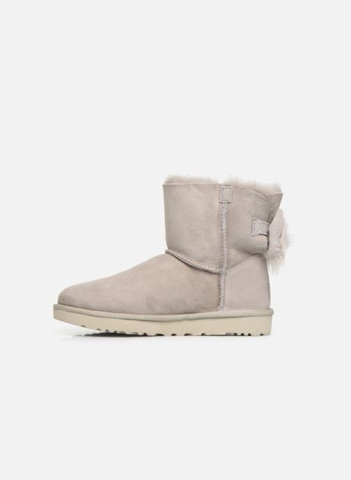 Bottines et boots UGG W Fluff Bow Mini Gris vue face