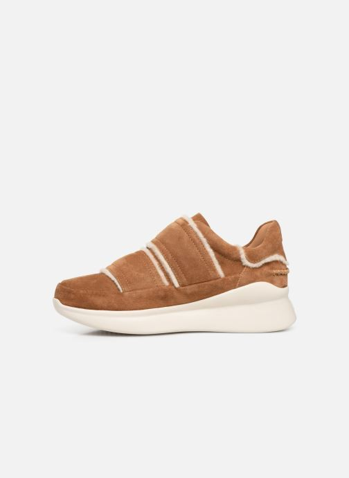 Sneakers UGG W Ashby Spill Seam Sneaker Bruin voorkant