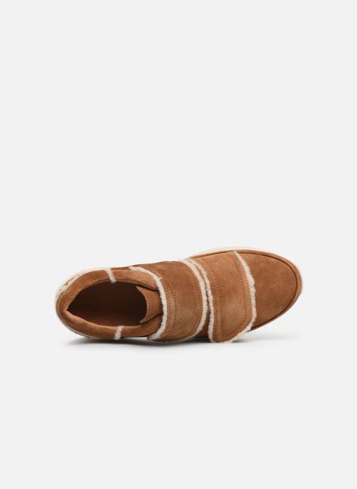 Baskets UGG W Ashby Spill Seam Sneaker Marron vue gauche