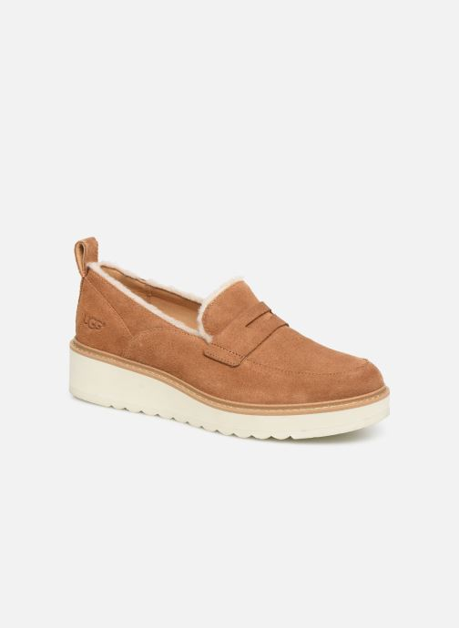 Mocassins UGG W Atwater Spill Seam Loafer Marron vue détail/paire