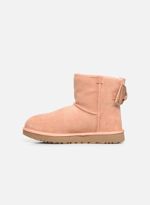 Bottines et boots UGG W Satin Bow Mini Rose vue face