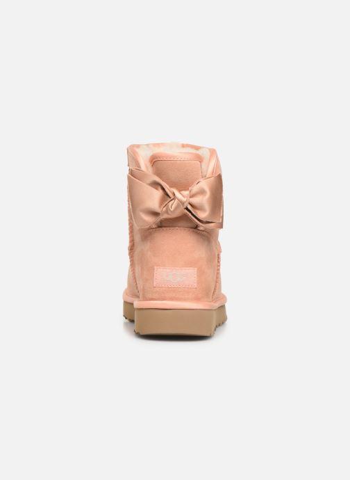 Stivaletti e tronchetti UGG W Satin Bow Mini Rosa immagine destra
