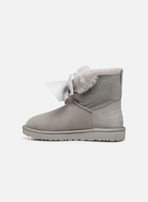 Bottines et boots UGG W Gita Bow Mini Gris vue face