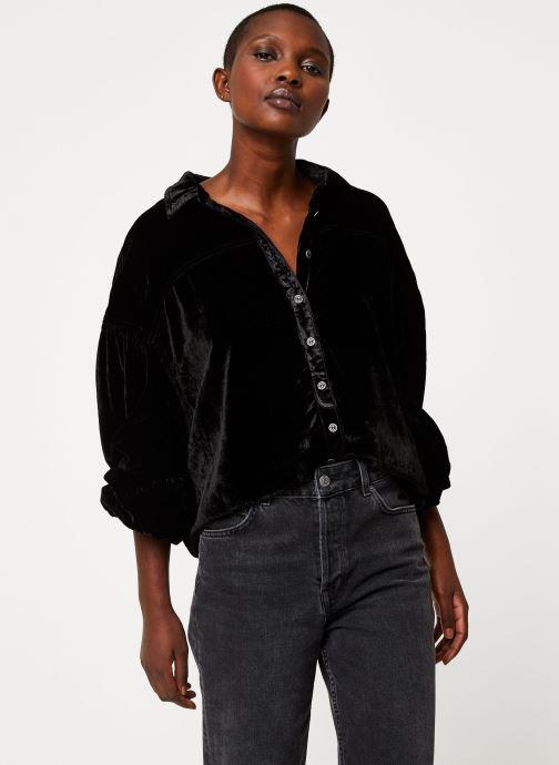 Vêtements Free People LA LUNA VELVET Noir vue détail/paire