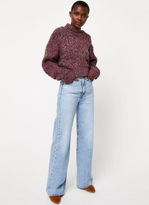 Vêtements Free People MERRY GO ROUND SWEATER Violet vue bas / vue portée sac