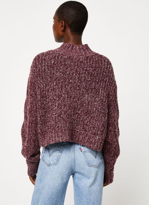 Kleding Free People MERRY GO ROUND SWEATER Paars model