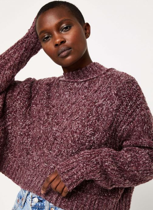 Vêtements Free People MERRY GO ROUND SWEATER Violet vue face