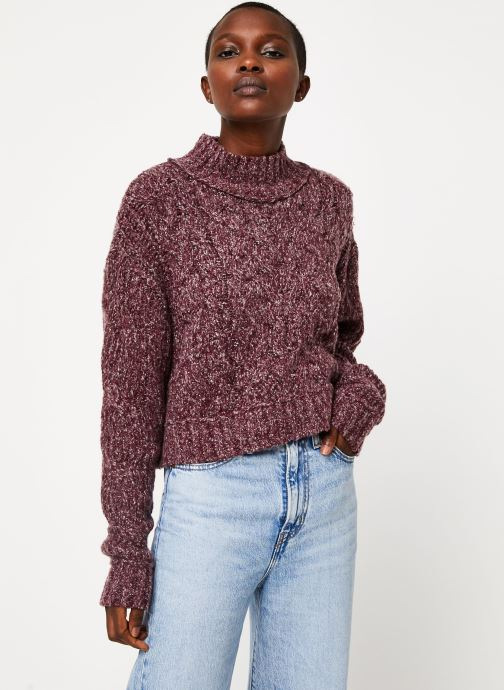 Kleding Free People MERRY GO ROUND SWEATER Paars rechts