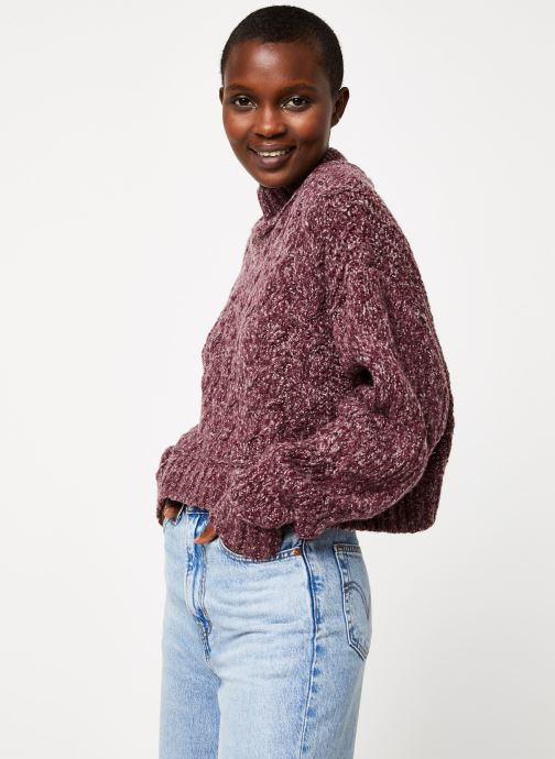 Vêtements Free People MERRY GO ROUND SWEATER Violet vue détail/paire