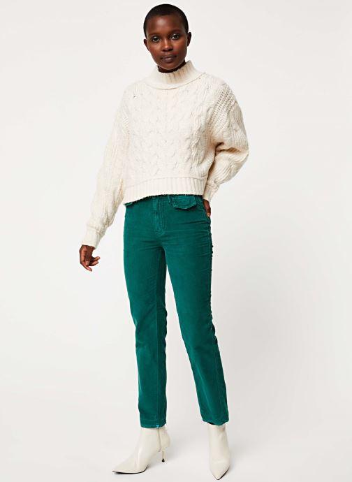 Vêtements Free People MERRY GO ROUND SWEATER Blanc vue bas / vue portée sac
