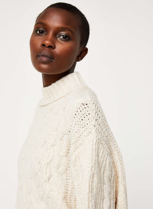 Kleding Free People MERRY GO ROUND SWEATER Wit voorkant