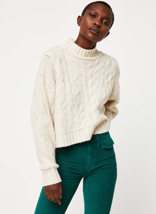 Vêtements Free People MERRY GO ROUND SWEATER Blanc vue droite