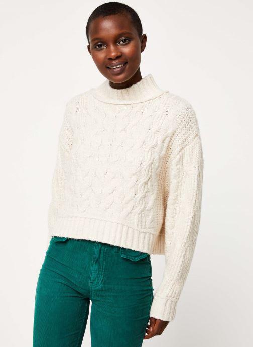 Vêtements Free People MERRY GO ROUND SWEATER Blanc vue détail/paire