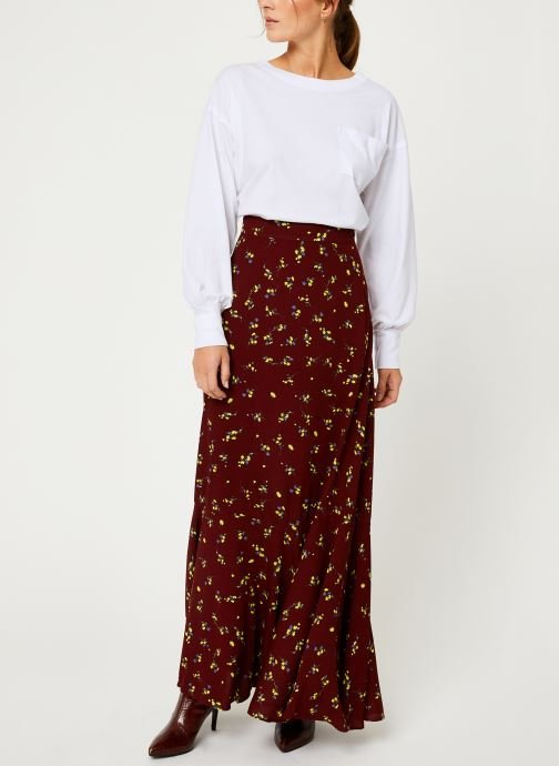 Vêtements Free People RUBY'S FOREVER MAXI SKIRT Marron vue bas / vue portée sac