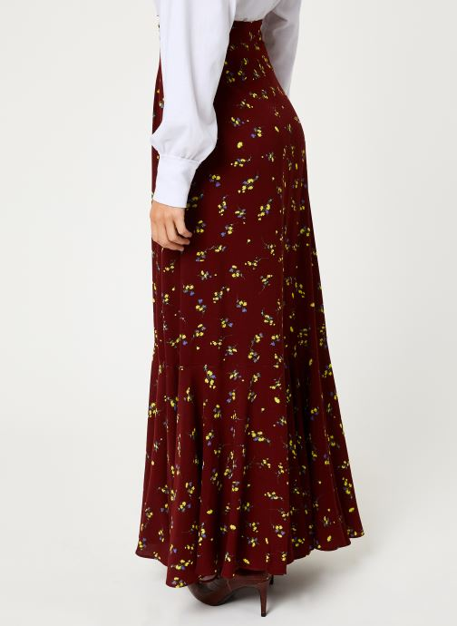 Vêtements Free People RUBY'S FOREVER MAXI SKIRT Marron vue portées chaussures