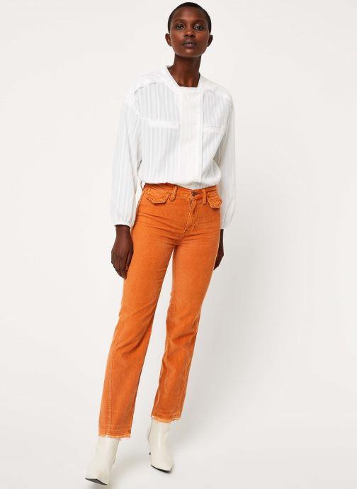 Vêtements Free People ACES HIGH STRAIGHT CORD Orange vue bas / vue portée sac