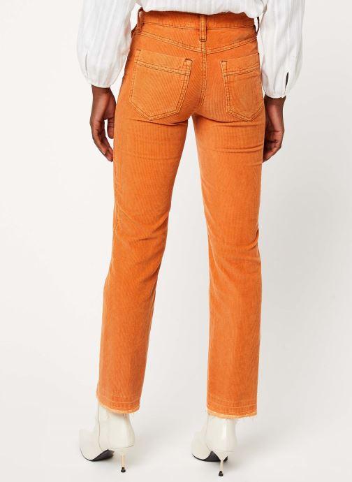 Vêtements Free People ACES HIGH STRAIGHT CORD Orange vue portées chaussures