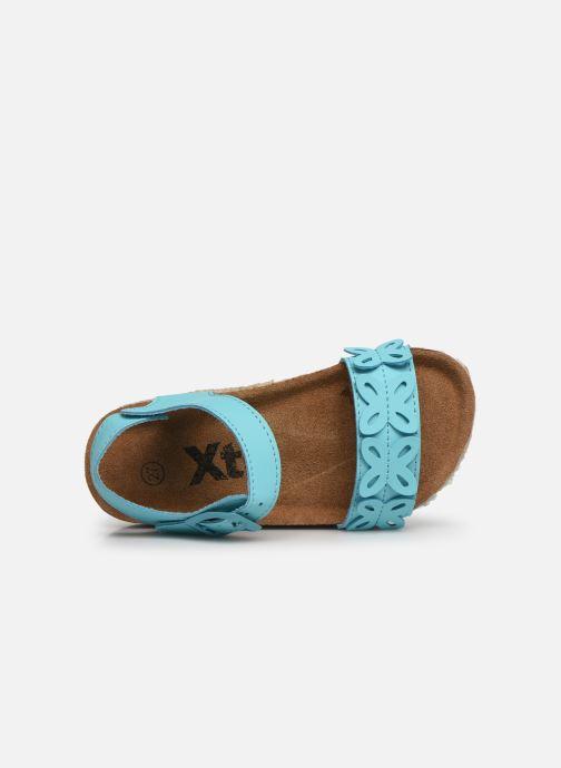 Sandalen Xti 56649 blau ansicht von links