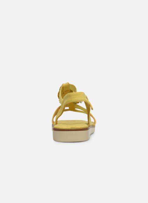 Sandales et nu-pieds Xti 56869 Jaune vue droite