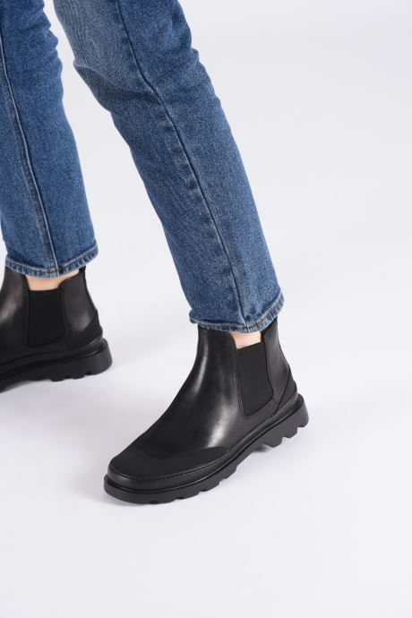 Ankle boots Camper Brutus K400407 Black view from underneath / model view