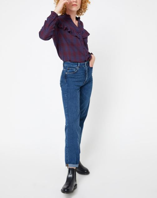 Vêtements Selected Femme Slfkate Jean Bleu vue bas / vue portée sac