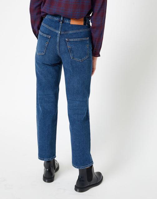 Vêtements Selected Femme Slfkate Jean Bleu vue portées chaussures