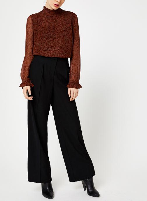 Vêtements Selected Femme Slftinni Pant Noir vue bas / vue portée sac