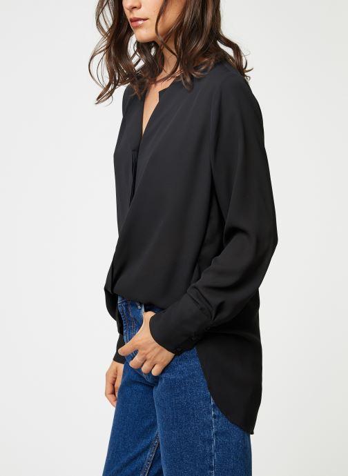 Vêtements Selected Femme Slfstina-Dynella Shirt Noir vue droite
