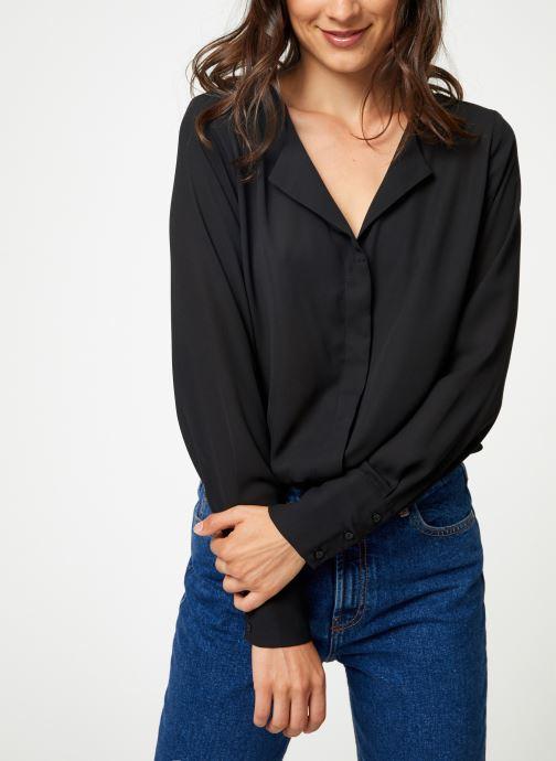 Vêtements Selected Femme Slfstina-Dynella Shirt Noir vue détail/paire