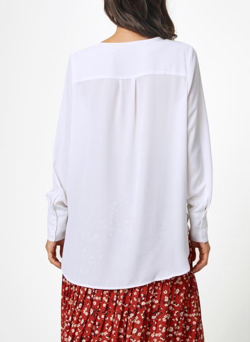 Vêtements Selected Femme Slfstina-Dynella Shirt Blanc vue portées chaussures