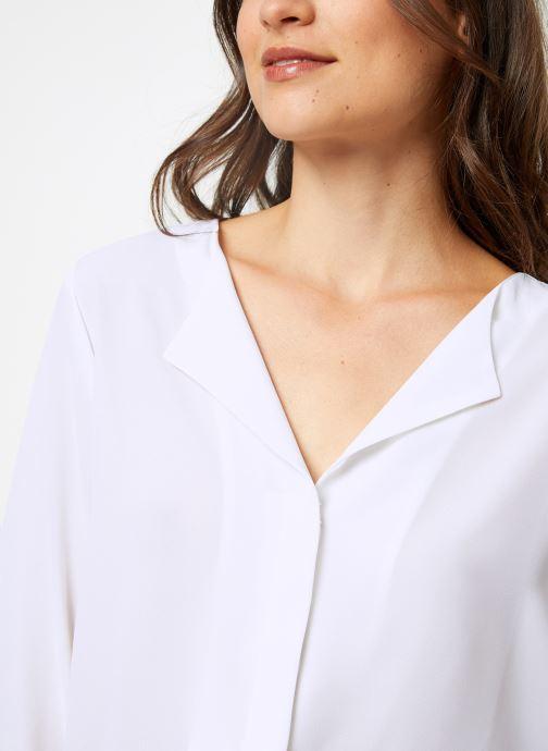 Vêtements Selected Femme Slfstina-Dynella Shirt Blanc vue face