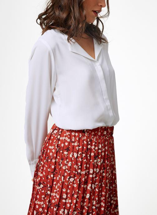 Vêtements Selected Femme Slfstina-Dynella Shirt Blanc vue droite