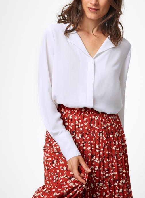 Vêtements Selected Femme Slfstina-Dynella Shirt Blanc vue détail/paire