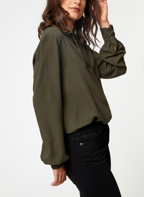 Vêtements Selected Femme Slfdaisy Top Vert vue droite