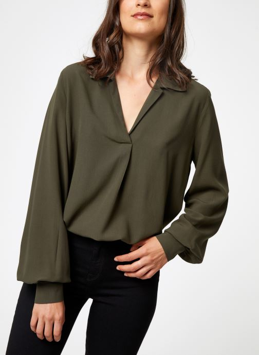 Vêtements Selected Femme Slfdaisy Top Vert vue détail/paire